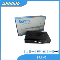 best hd satellite receiver 2013 Sunray sr4 V2 Enigma 2 Linux OS sunray4 hd se with triple tuner hd settop box