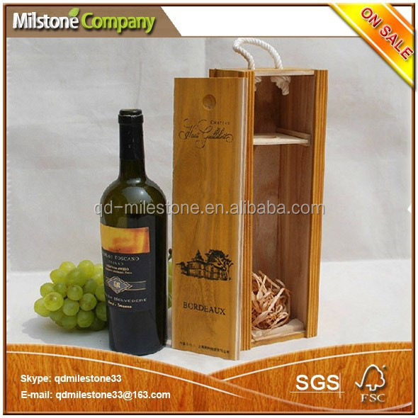 Antique Wooden Wine Boxes for Wine Gifts Packaging or Decoration