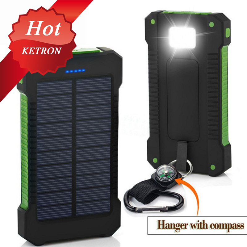 solar powered tent 20000mah solar mobile phone charger case