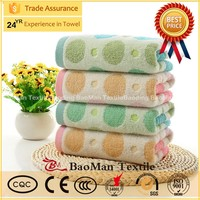 Untwisted cotton towels daily circle dot