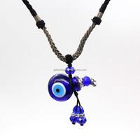 Popular design royal blue evil eye glass bottle necklaces