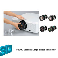 4k Support 3LCD Large Venue Video Beamer 10000 ansi Lumens 3D Digital Cinema Projector