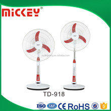 Outdoor 18 inches AC DC 12V Solar Emergency Rechargeable Fan with light TD-918