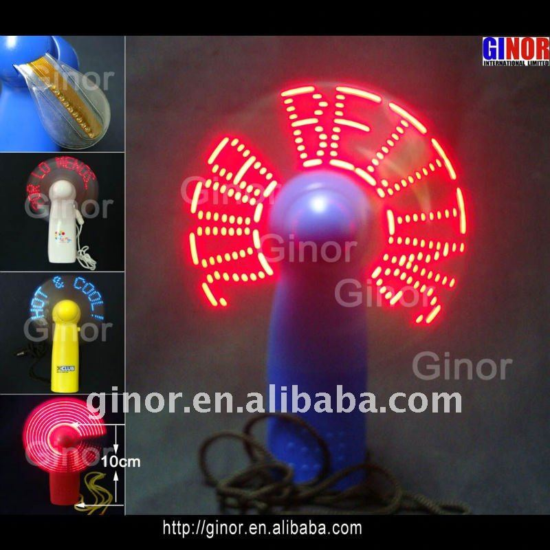 led pocket fan with 5 or 7 lights