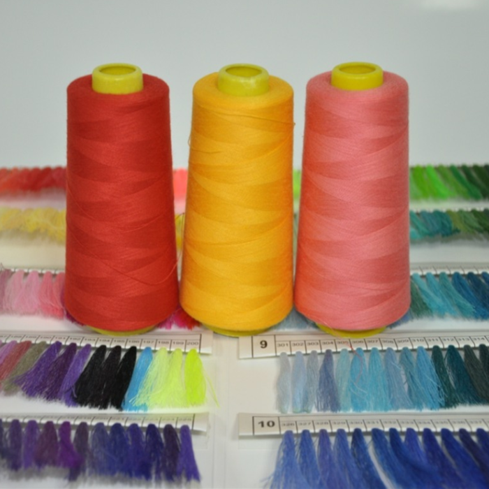100% polyester sewing thread used long arm sewing machine