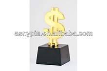 academy Award/metal letter award trophy with wooden base