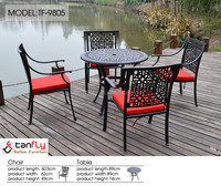 Most popular metal outdoor furniture wrought aluminum patio furniture