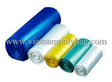 Coloured good quality EPI gusseted polyethylene tubing bag made in Vietnam