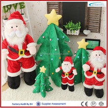 custom christmas plush santa claus stuffed christmas decoration toy