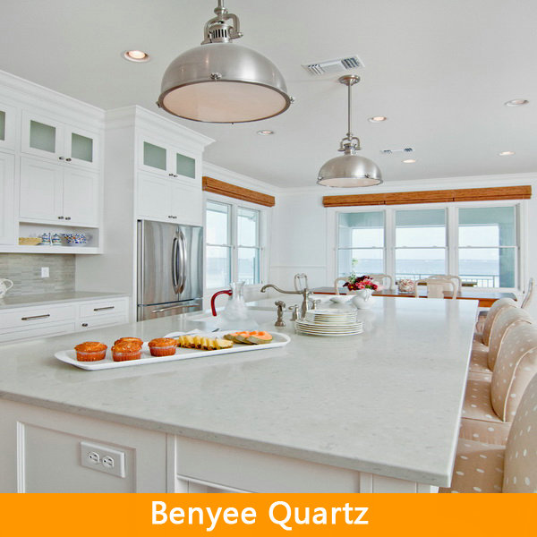 Engineered White Kitchen Quartz Composite Countertops