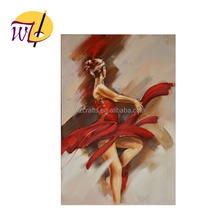 hot sale sexy beautiful abstract dancing girl art oil painting on canvas