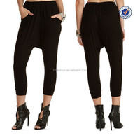 2015 downtown black fashion harem pants wholesale pattern harem pants women