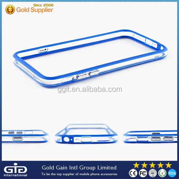 Color Transparent Frame Case For iPhone 6