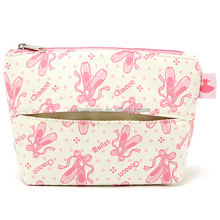 single zipper cheap cute makeup accessory bag with a pocket