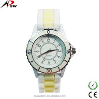 Simple and hot sale silicon women watches geneva wrist watch