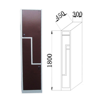 20 Years Factory 2 Door Metal Clothing L Shape Locker