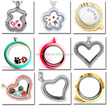 $1.0 for All Models Glass Living Memory Floating Lockets, Factory Direct Wholesale Charm Locket