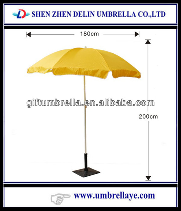 Adjustable yellow patio umbrellas