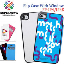 Sublimation Flip Phone Case with Windown for iPhone, with Printable Aluminum Sheets