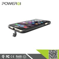 Hot selling plug port qi wireless receiver charger case for iphone