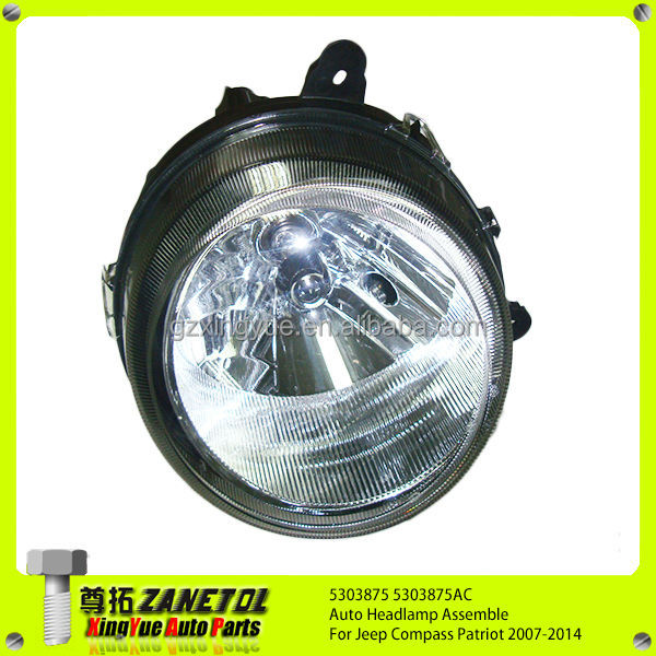 5303875 5303875AC Auto Left Headlamp Assemble For Jeep Compass Patriot 07-14