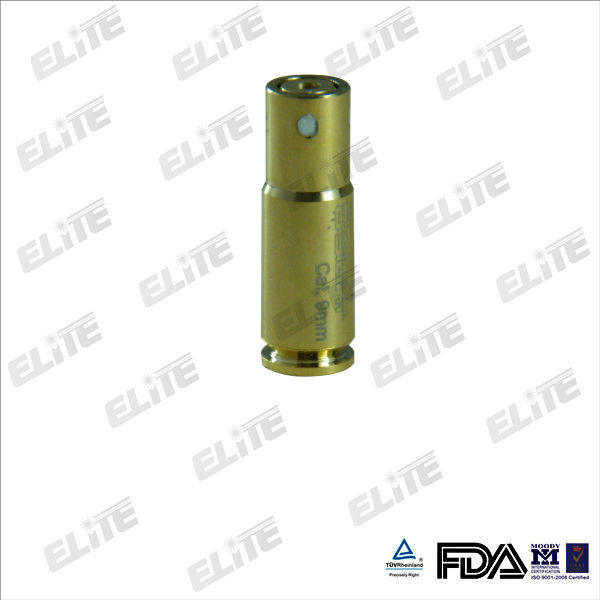 100% brass and gold-plated red laser gun bore sighter 9mm
