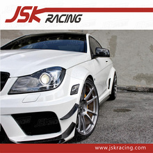 2011-2013 B SERIES STYLE CARBON FIBER FRONT BUMPER CANARD (FOR OEM BUMPER)FOR MERCEDES BENZ C-CLASS W204 C63 (JSK060142)