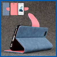 "C&T Dark Blue JEANS Slim Leather Case with Inside Card Slots for Apple iPhone 6 Plus/6s Plus (5.5"")"