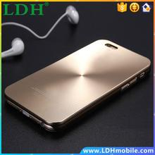 Luxury aluminum alloy + PC plastic Phone Cases Back Covers For Apple iPhone 5 5S 6 6 Plus All Models