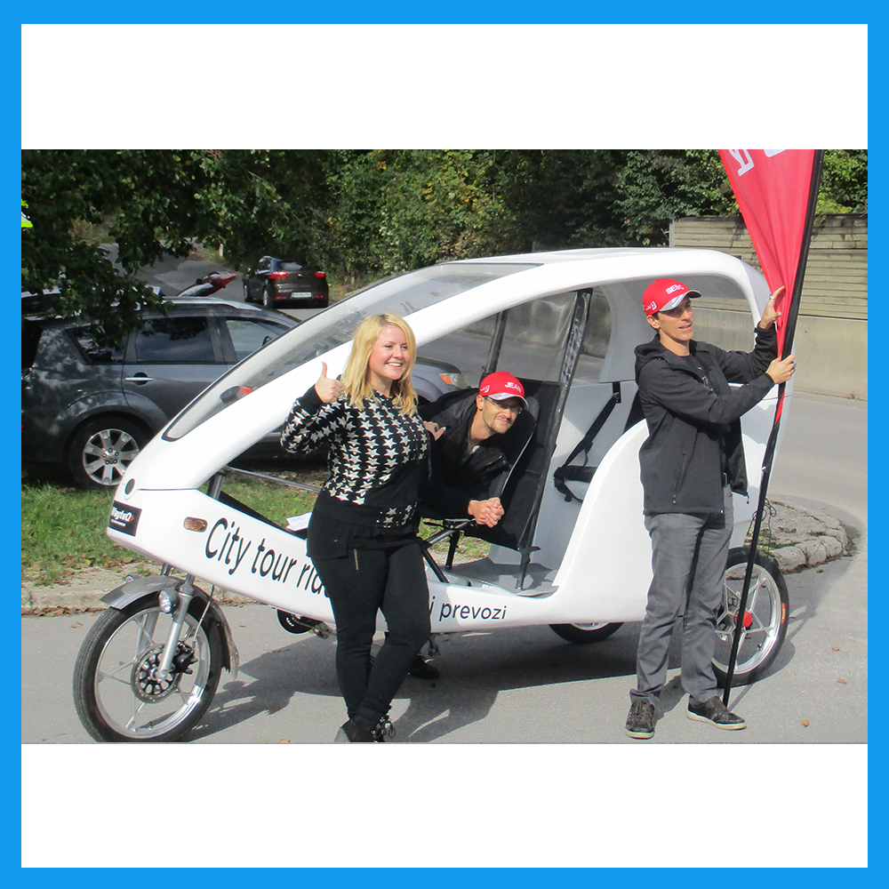 Electric version tricycle 3-wheeler bike taxi for sale