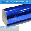 CARLIKE Removable Decal Vinyl Car Wrap Body Sticker Chrome Material