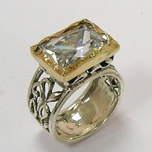 A13217Z Silver & Gold Ring