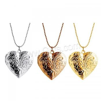 29x33mm, Length:Approx 15.7 Inch fashion new design zinc alloy locket necklace heart