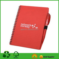 Plastic Cover Spiral Notebook With Ballpen