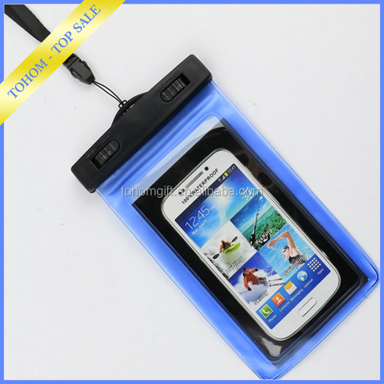 Hot new products waterproof cell phone case, PVC mobile phone waterproof bag for promotional gift