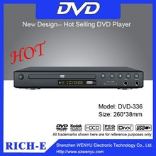 260mm multi functions home dvd player with game joystick,dvd player with fm radio