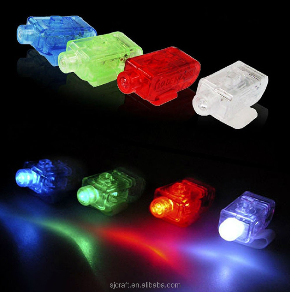 color changing led finger light
