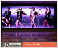 P4 indoor RGB led xxx video china beautiful girls stage elegant back