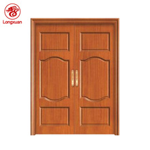 Simple carving french style six panels wooden double door designs