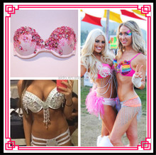 Aidocrystl Handmade Dreamcatcher Fairy Rave Bra Rave Outfit Made to Order in Any Size or Color