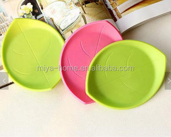 Hot sale Candy Color Three-dimensional Leaves Heat Insulation Cup Mat / Creative Leaf Coaster Pad