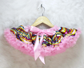 Baby Boutique brand name clothing christmas costume Satin Chevron Pettiskirt Dance Wear Skirts for Young Girls
