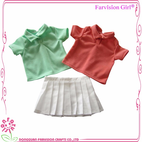 Newest item colorful sports doll clothes for kids plastic toy doll