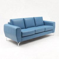 Europe Hot Model Sofa Leather modern leather sofa Three Seater