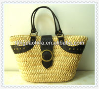 HIFA Natural Beach Bag Straw shopping handbags gift bag