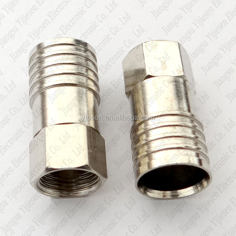 RG11 F Compression Connector Metric CATV Cable F Crimp Connector