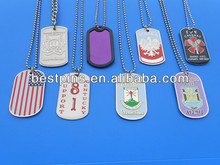 various rectangle dog tag necklace with engraved logo