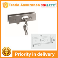 door security system stainless steel locking clamp for patch fitting