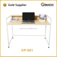 MDF panels in hign gloss white low price computer desk