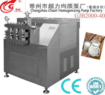 Two stages Liquid Processing Types dairy homogenizer 3 plunger